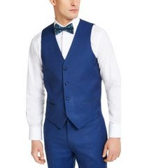 alfani men's slim-fit stretch blue tuxedo vest, created for macy's