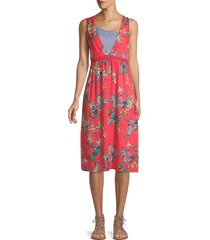 johnny was women's malakye floral coverup dress - size s