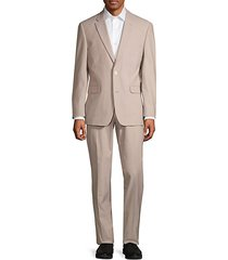 2-piece modern-fit cotton blend suit