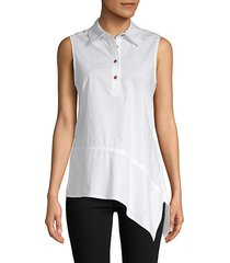 asymmetrical cotton top