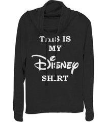 fifth sun juniors disney logo my disney shirt fleece cowl neck sweatshirt