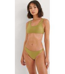 na-kd swimwear skinande klassisk bikinitrosa - green