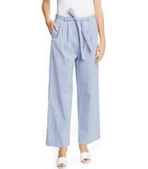 women's by any other name belted stripe cotton jacquard pants