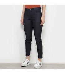 calça jeans cigarrete ellus deep blue elastic feminina