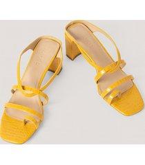 na-kd shoes högklackade sandaler - yellow
