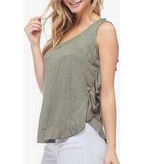 fever women's ruffle tank