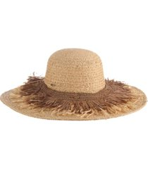 scala braided raffia hat with fringe