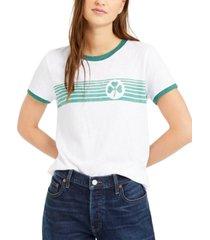 lucky brand clover stripes ringer t-shirt