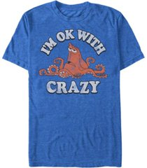 disney men's finding dory hank ok with crazy, short sleeve t-shirt