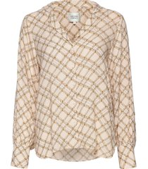 katt ls shirt blouse lange mouwen zilver second female