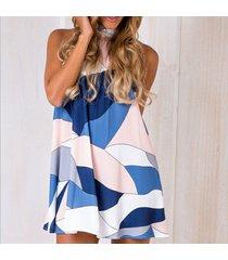 mini vestido de playa sin mangas sin espalda