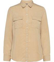 shirts/blouses long sleeve långärmad skjorta beige marc o'polo
