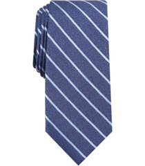 alfani men's primrose slim textured stripe tie, created for macy's