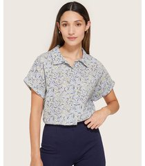 blusa camisera manga corrida