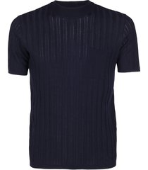 roberto collina blue cotton t-shirt