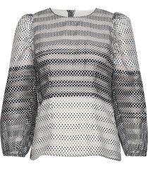 marcello blouse lange mouwen zwart baum und pferdgarten