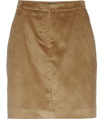 d1. wide wale cord skirt kort kjol beige gant