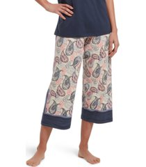 hue printed knit capri sleep pants