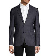 slim-fit astian plaid suit jacket