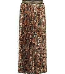 plisse forest skirt lång kjol grön mos mosh