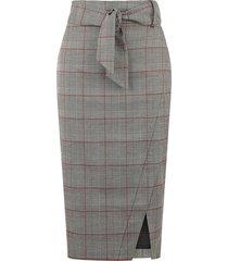 mono check pencil skirt