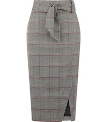 mono check pencil skirt