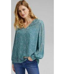 blusa estampada con top turquesa esprit