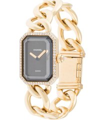 chanel pre-owned pre-owned première wrist watch - gold