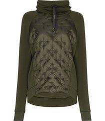holden hooded fleece ski top - green