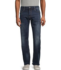 buffalo david bitton men's six-x straight stretch jeans - classic blue - size 30 32