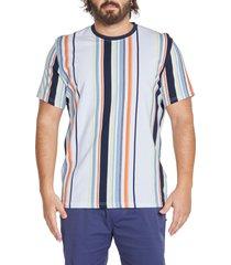men's big & tall johnny bigg vertical stripe t-shirt, size x-large - blue