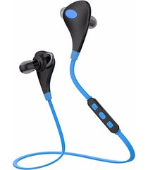 audífonos bluetooth manos llibres inalámbricos, r18 neckband audifonos bluetooth manos libres  inalámbrico deportes corriendo auricular de prueba de sudor (azul)