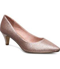 woms court shoe shoes heels pumps classic rosa tamaris