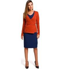 blouse style s173 wikkel vest - gember