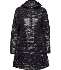 w lifaloft insulator coat gevoerde lange jas zwart helly hansen