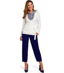 blouse style s173 wikkel vest - ecru
