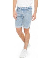 shorts slim oscar azul calvin klein