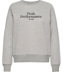 w original crew cold blush sweat-shirt trui grijs peak performance