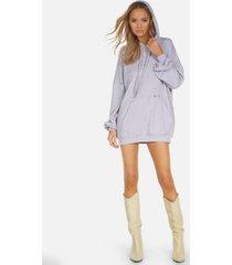 brayden le lavender hoodie dress - lavender l