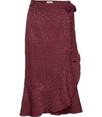 skirt knälång kjol röd rosemunde