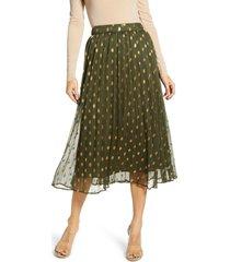 women's endless rose polka dot pleated skirt
