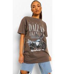 petite oversized motor t-shirt, charcoal