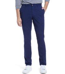 men's peter millar crown fleece flat front pants, size 40 - blue
