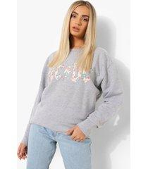 oversized gelicenseerde acdc sweater, grey marl