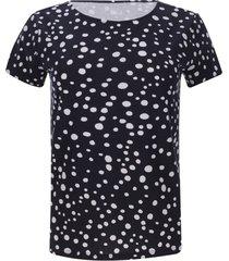 camiseta puntos color azul, talla s
