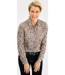 blouse mona ecru::blauw