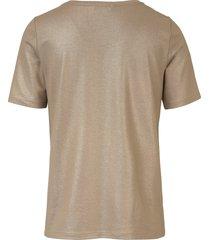 shirt met ronde hals van uta raasch goudkleur
