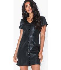 glamorous buttoned short sleeve dress klänningar