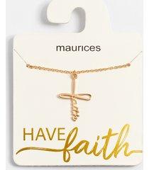 maurices womens dainty gold faith cross necklace