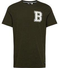 tee centre centre t-shirts short-sleeved grön björn borg
